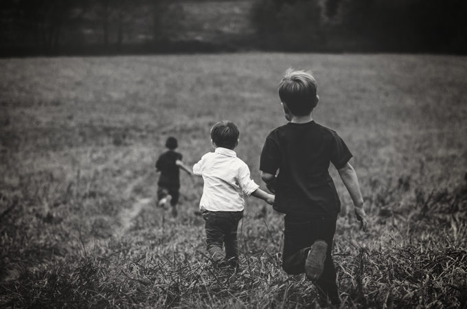 running-children